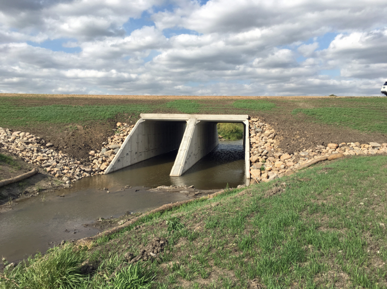 Dual 14′ x 14′ Precast Concrete Box Culvert Replaces Wood Bridge and